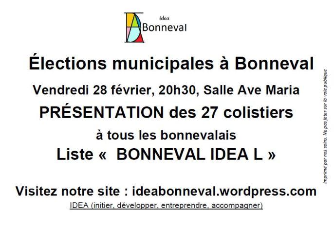 Tract IDEA présentation liste 2014 02 28