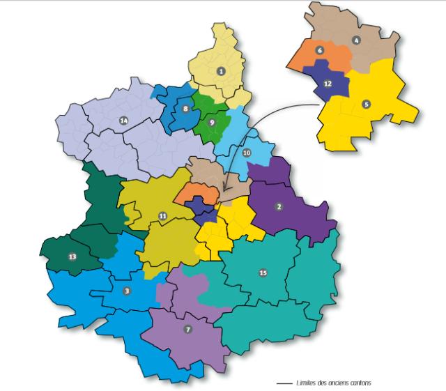 Nouveaux cantons 2015 Carte